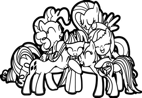 My Little Pony Group Coloring Pages | my little pony group coloring pages pictures to pin on
