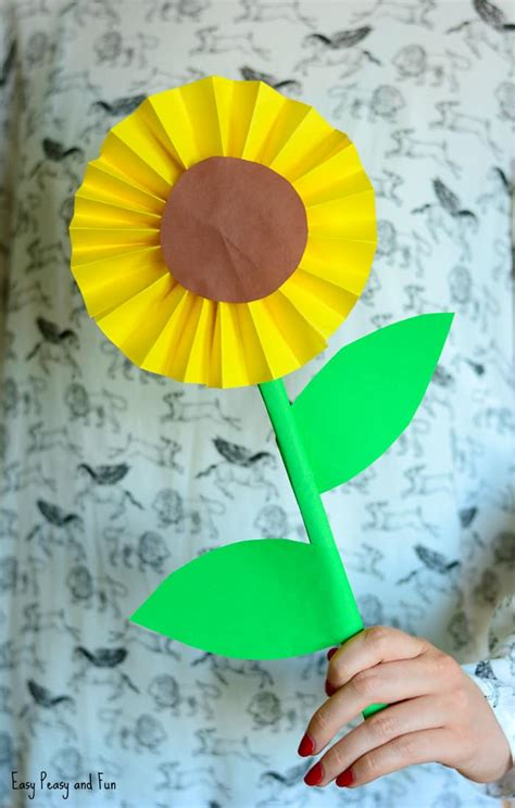 paper craft idea sunflower paper craft idea easy peasy and