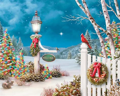 christmas welcome birds welcome jigsaw puzzle puzzlewarehouse