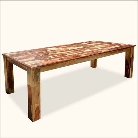 Contemporary Solid Wood Dining Table Contemporary Wooden Tile Large Rectangular Solid Wood Dining Table Dine In Style