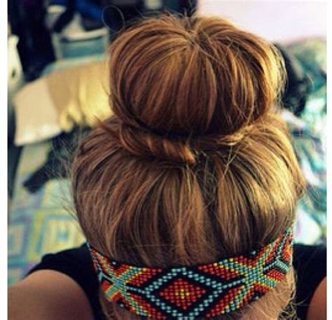 Summer Hairstyles Buns | summer hairstyle i want the headband so gonna try the