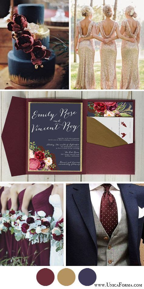 Navy marsala and gold wedding. Navy burgundy and gold