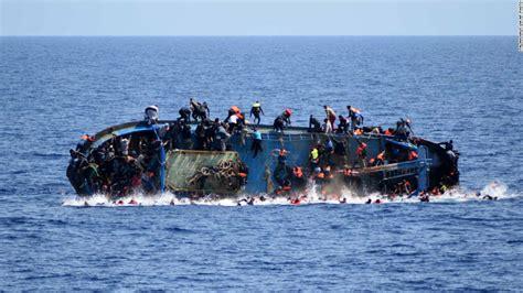 excavator sinking boat mediterranean migrant deaths reach record level in 2016 cnn