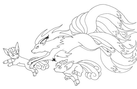 pokemon coloring pages ninetales vulpix and ninetales by saij spellhart on deviantart
