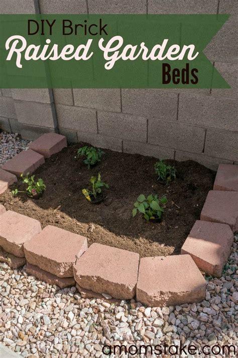 diy brick raised garden beds  moms