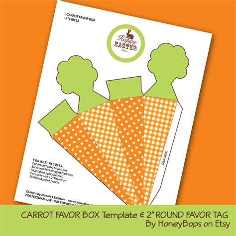 easter box templates free honeybops free carrot favor box and 2 quot favor tag