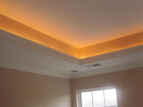 How To Build A Tray Ceiling With Lights Tray Ceiling Lights For The Home