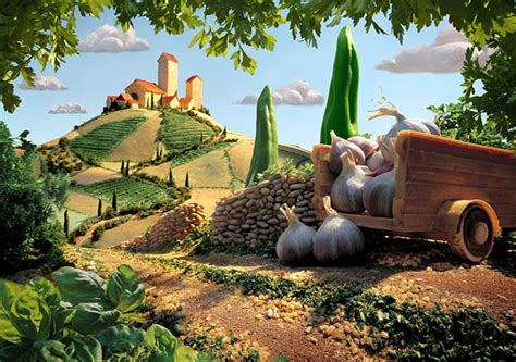 Landscape With Food Surreal Landscapes Created With Food