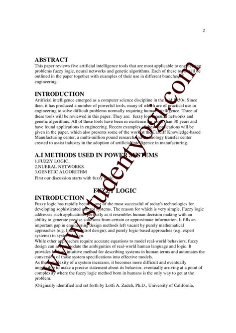 artificial intelligence research paper topics artificial intelligence thesis 28 images a thesis