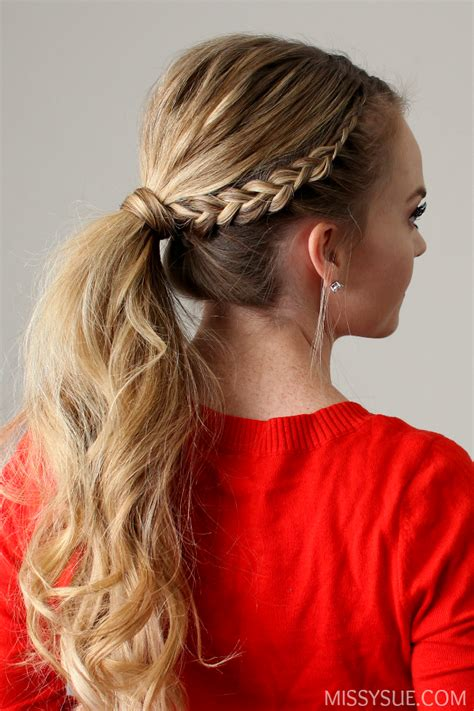 ponytail braid hairstyles lace braid ponytail