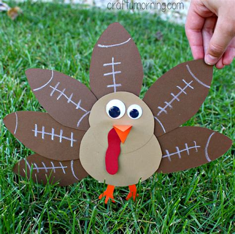 how to make a turkey craft project football turkey craft for to make crafty morning