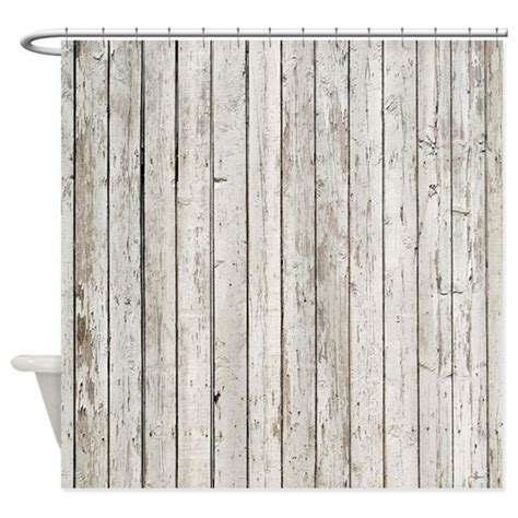 shabby chic white curtains shabby chic white barn wood shower curtain by listing