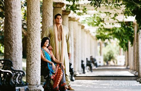 Richmond VA South Asian Engagement Portraits Maymont Park