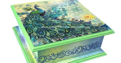 Decoupage Nz - tutorial napkin decoupage on wooden box hobby crafts