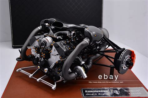 koenigsegg one engine frontiart 1 6 koenigsegg one 1 engine model ebay