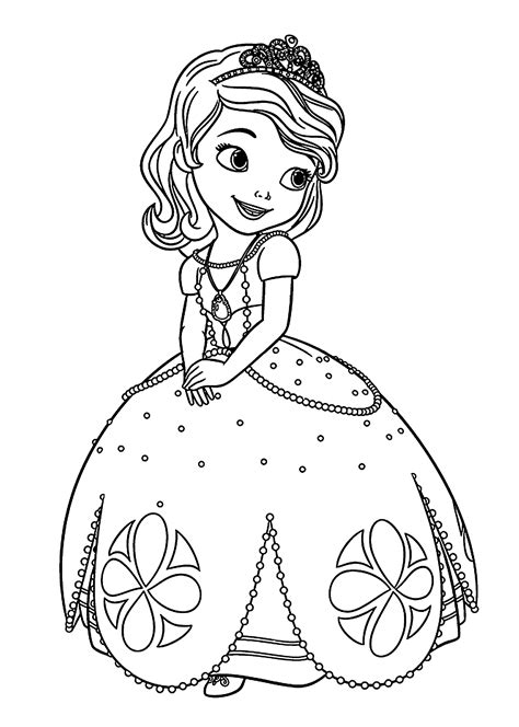 sofia the amber coloring pages
