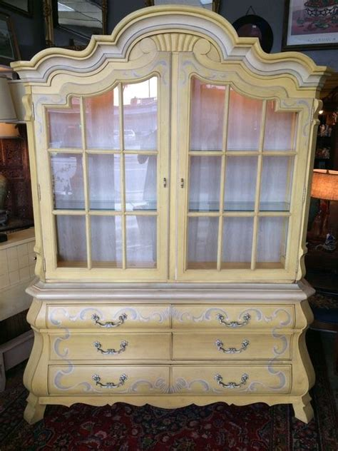 provincial china cabinet drexel provincial china cabinet w lights