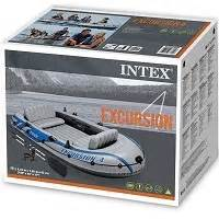 opblaasboot varen intex excursion boot vijfpersoons opblaasboot
