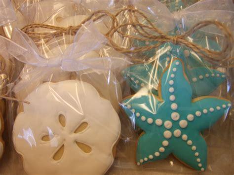 starfish themed bridal shower favors sand dollar starfish sugar cookies for a theme