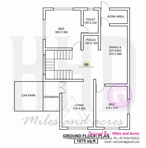 ground floor and first floor plan 1767 square feet house plan kerala home design and floor