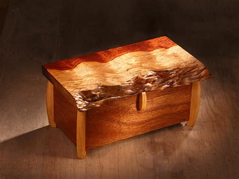 project natural  edge box woodworking blog