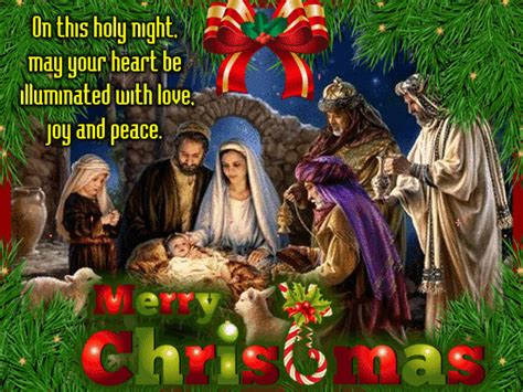 happy  merry christmas    nativity scene ecards