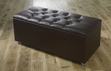 New Ottoman Storage Blanket Box In Faux Leather Storage Ottomans Uk