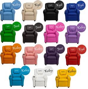 Toddler Reading Chair Kids Personalized Recliner Arm Chairs Embroidered Chairs