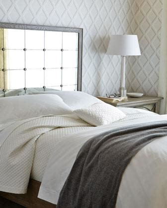 strand bedroom furniture strand mirrored squares headboard bed