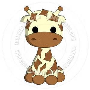 Girl giraffes clip art vector clip art online royalty free