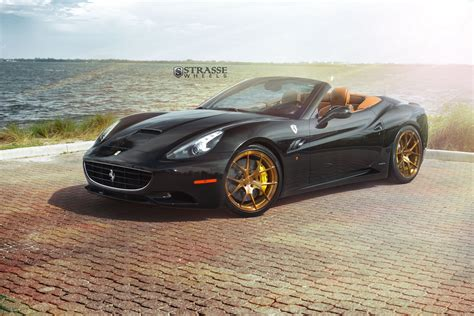 wheels ferrari black ferrari california matches up with gloss bronze wheels