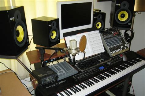 Packaging A Home Piano Studio Desk Nomadic Research Labs Studio Monitor Desk