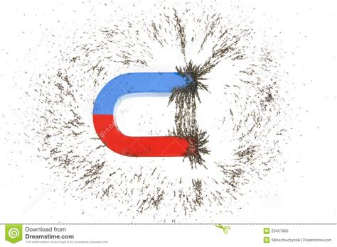 in the science and of organic magnetism classic reprint books horseshoe magnet and iron filings stock photo image