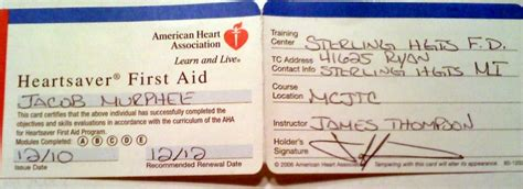 american association heartsaver cpr card template american association powerpoint template choice