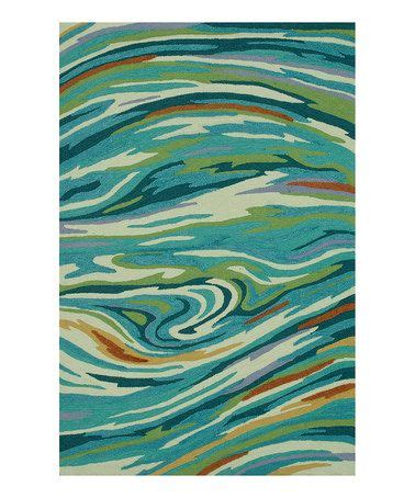 Orange Area Rug With White Swirls Look What I Found On Zulily Teal Swirl Rug