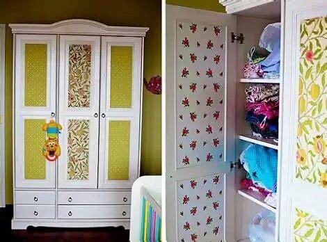 ropero empapelado muebles reciclados pinterest