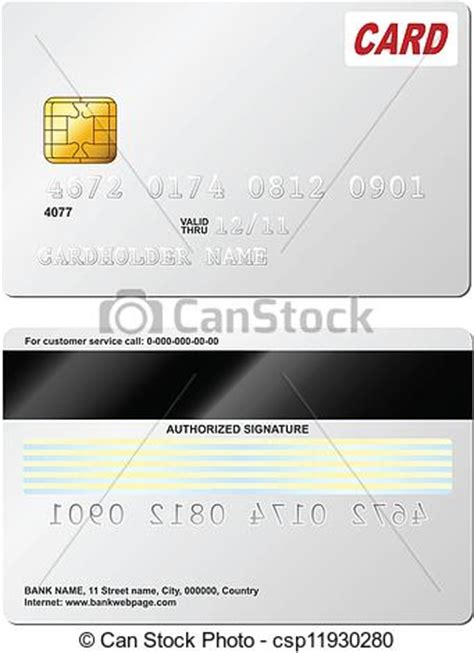credit card graphic template vector of blank credit card vector template front and