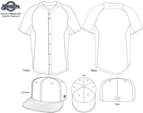 sports jersey template brewers look to fans for their new youniform design