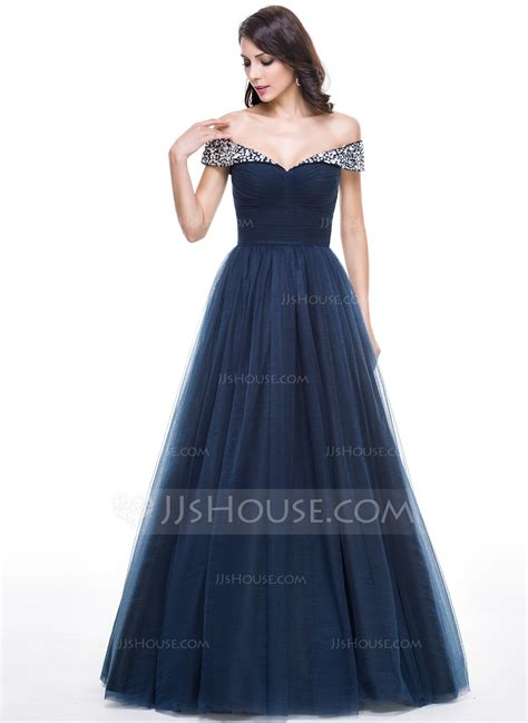 Evening Dressers by Gown The Shoulder Floor Length Tulle Evening