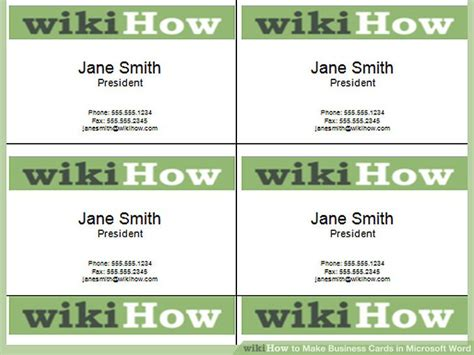 how to make a business card in microsoft word 2010 printaholic com