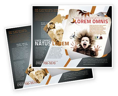 kids and science brochure template design and layout