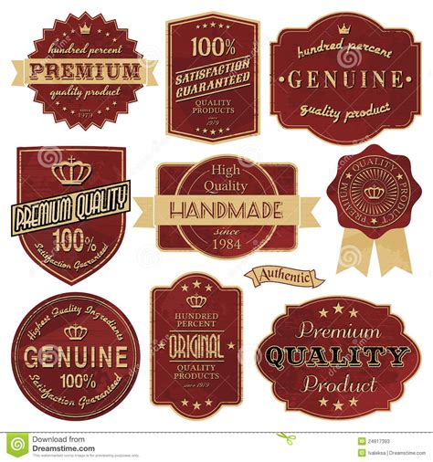 vintage labels stock photos image 24917393