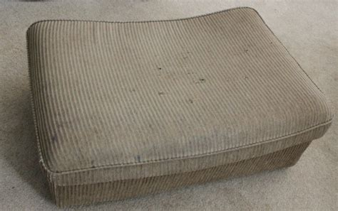 reupholstering an ottoman a first attempt at upholstery how to reupholster an