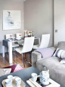 Living Room With Dining Table Dazzling Small White Dining Table Sets At Corner Near Of Stylish Gray Sofa Ideas And Pleasant