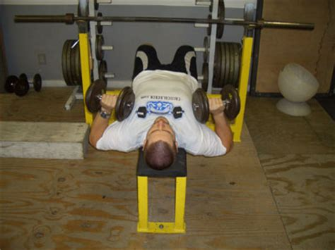 bench press to neck dumbbell press to neck exercise