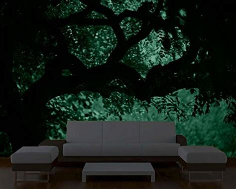 glow in the dark wall mural glow in the dark nature wall mural