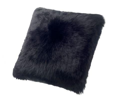 Sheepskin Throw Pillow by Sheepskin Pillows Large 24 Fur Cushions Black Ultimate