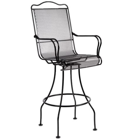 Outdoor Wrought Iron Bar Stools by Tucson Swivel Bar Stool By Woodard Garden Furniture