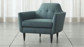 teal blue mid century accent chair crate and barrel