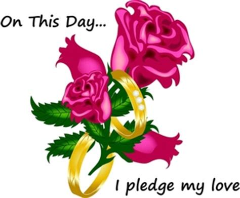 """Wedding Vows Clipart Image   """"On This Day I Pledge My Love"""